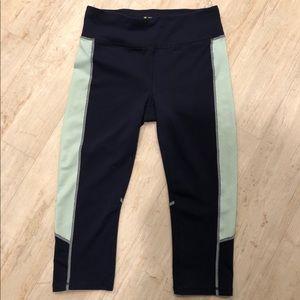 Tek Gear Navy and Mint Shapewear  Workout Capri M
